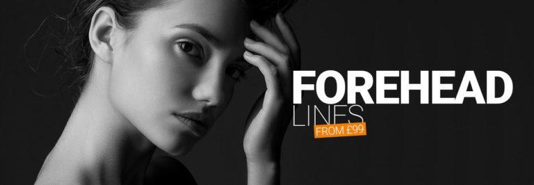 Forehead wrinkle treatment